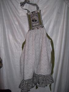 Spooky cat apron. $55.00