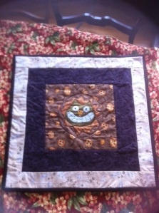 scary cat quilt Measures 22.5x22.5 inches $45.00