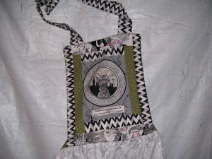 Ghastly cat apron